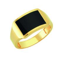 Pecsétgyűrű fekete díszítéssel