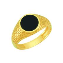 Pecsétgyűrű fekete kör díszítéssel