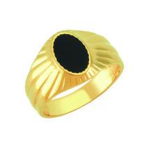 Pecsétgyűrű ovális fekete díszítéssel