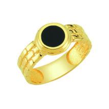 Pecsétgyűrű fekete, kör alakú díszítéssel
