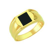 Pecsétgyűrű fekete, négyzet alakú díszítéssel