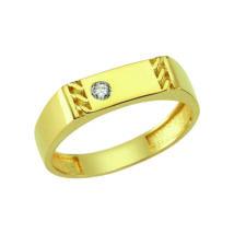 Pecsétgyűrű apró díszítéssel és kővel