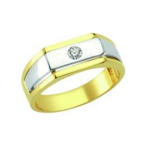 Pecsétgyűrű ezüst díszítéssel, közepén kővel