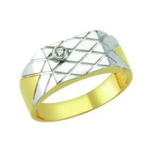 Pecsétgyűrű ezüst, keresztezett-vésett mintával és kővel