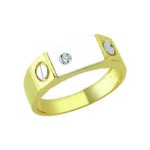 Pecsétgyűrű ezüst díszítéssel és kővel