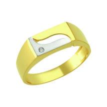 Pecsétgyűrű hullám mintával és kővel