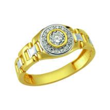 Pecsétgyűrű kövekkel, oldalán ezüst díszítéssel