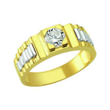 Pecsétgyűrű kővel, oldalán ezüst díszítéssel