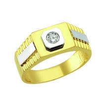 Pecsétgyűrű középen kővel, ezüst díszítéssel