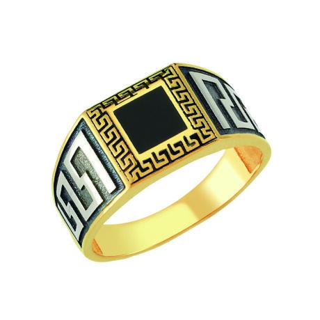 Pecsétgyűrű fekete mintával