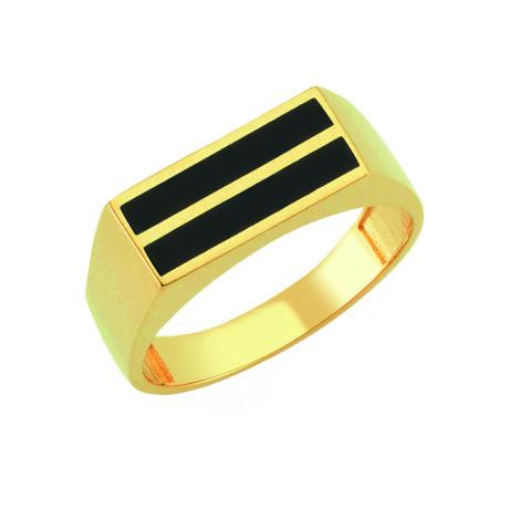Pecsétgyűrű fekete sávos díszítéssel