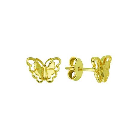 Fülbevaló pillangó mintával