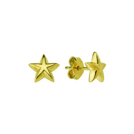Fülbevaló csillag mintával