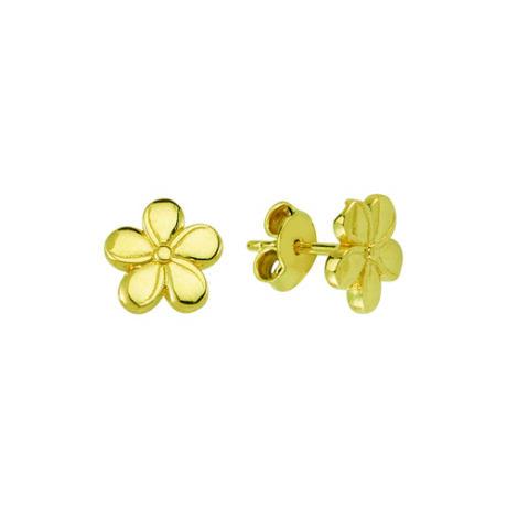 Fülbevaló virág mintával