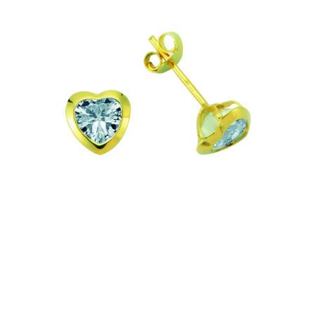 Szív alakú fülbevaló kővel