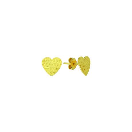 Fülbevaló szív mintával