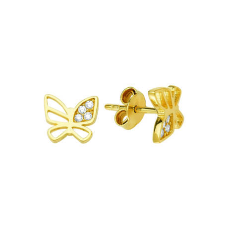 Pillangó formájú fülbevaló